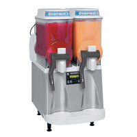 Bunn 34000.0521 Ultra-2 CFV Stainless Steel and White Gourmet Ice Frozen Beverage System with Two Hoppers