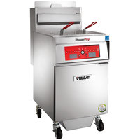 Vulcan 1TR65CF-2 PowerFry3 Liquid Propane 65-70 lb. Floor Fryer with Computer Controls and KleenScreen Filtration System - 80,000 BTU
