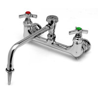 T&S BL-5775-08 Lab Wall Mounted Sink Mixing Faucet with 8 inch Centers and Vacuum Breaker