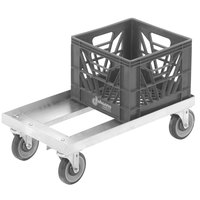 Channel MC1338 13 inch x 19 inch Milk Crate Dolly - 2 Stack Capacity