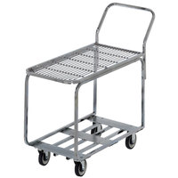 Channel STKC200G Chrome Plated Steel Stocking Truck with Galvanized Deck - 44 inch x 18 1/2 inch