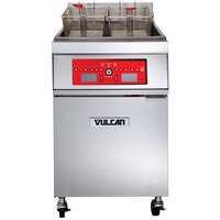 Vulcan 1ER85C-2 85 lb. Electric Floor Fryer with Computer Controls - 480V, 3 Phase, 24 kW