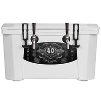 2 Faucet White 40 Qt. Grizzly Jockey BrewBox with (2) 75' Coils