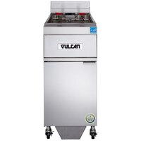 Vulcan 1ER50AF-1 50 lb. Electric Floor Fryer with Analog Controls and KleenScreen Filtration - 208V, 3 Phase, 17 kW