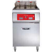 Vulcan 1ER85C-1 85 lb. Electric Floor Fryer with Computer Controls - 208V, 3 Phase, 24 kW