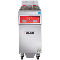Vulcan 1ER50CF-2 50 lb. Electric Floor Fryer with Computer Controls and KleenScreen Filtration - 480V, 3 Phase, 17 kW