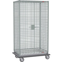 Metro SEC56LC Chrome Mobile Heavy Duty Wire Security Cabinet - 63 1/8 inch x 28 1/16 inch x 68 1/2 inch