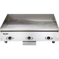 Vulcan HEG36E 36 inch Electric Countertop Griddle with Snap-Action Thermostatic Controls - 208V, 1 Phase, 16.2 kW
