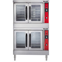 Vulcan VC66GC-LP Liquid Propane Double Deck Full Size Gas Deep Depth Convection Oven with Computer Controls - 100,000 BTU