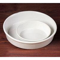 CAC RDP-9 White Round Deep Dish Serving Platter 48 oz. - 24/Case