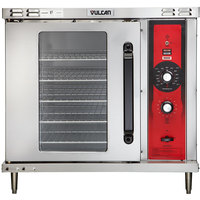 Vulcan GCO2D-NAT Natural Gas Single Deck Half Size Gas Convection Oven with Solid State Controls - 25,000 BTU