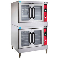 Vulcan SG44-LP Liquid Propane Double Deck Full Size Gas Convection Oven with Solid State Controls - 120,000 BTU
