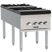 Vulcan VSP200F Liquid Propane 2 Burner Countertop Stockpot Range - 220,000 BTU