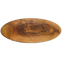 American Metalcraft OWM25 25 1/2 inch x 10 1/2 inch Oval Olive Wood Melamine Serving Board