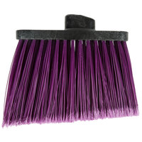 Carlisle 3686768 Duo-Sweep Medium Duty Angled Broom Head with Flagged Purple Bristles