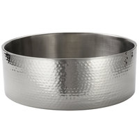 American Metalcraft DWBH16 16 Qt. Round Stainless Steel Double Wall Serving Bowl with Hammered Finish