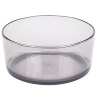 Carlisle MIN544618 Mingle 5 Qt. Smoke Tritan Plastic Serving Bowl - 4/Case