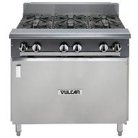Vulcan V6B36B-LP V Series Liquid Propane 6 Burner 36 inch Heavy-Duty Range with Cabinet Base - 198,000 BTU
