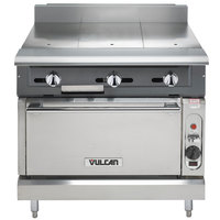 Vulcan V336HS-LP V Series Liquid Propane 3 Burner Heavy-Duty Range with 36 inch Hot Top and Standard Oven - 140,000 BTU