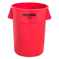 Rubbermaid Brute FG265500RED Red 55 Gallon Trash Can