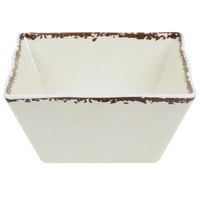 American Metalcraft AWMSQ73 1.8 Qt. Antique White Square Melamine Bowl