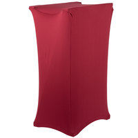 Marko EMB5026LTRC046 Embrace Burgundy Spandex Tray Stand Cover - Over 30 inch