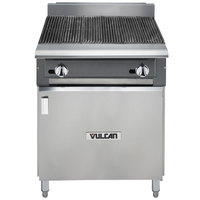 Vulcan VCBB24B-LP V Series Liquid Propane 24 inch Radiant Gas Floor Model Charbroiler with Cabinet Base - 65,000 BTU
