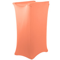 Marko EMB5026LTRC030 Embrace Peach Spandex Tray Stand Cover - Over 30 inch