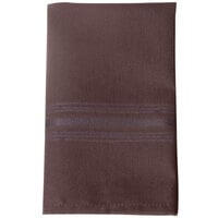 Marko 53761822NH515 SoftWeave Epicure 18 inch x 22 inch Chocolate Brown Tone on Tone Striped Napkin - 12/Pack