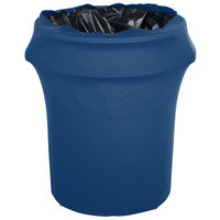 Marko EMB5026WC55062 Embrace 55 Gallon Cadet Blue Spandex Round Waste Container Cover
