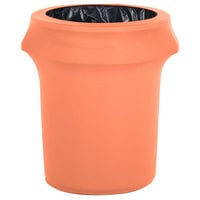 Marko EMB5026WC35030 Embrace 32 Gallon Peach Spandex Round Waste Container Cover