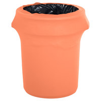 Marko EMB5026WC44030 Embrace 44 Gallon Peach Spandex Round Waste Container Cover