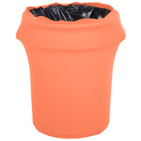 Marko EMB5026WC55030 Embrace 55 Gallon Peach Spandex Round Waste Container Cover