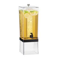 Cal Mil 2016-13 Black 3 Gallon Econo Beverage Dispenser with Ice Core – 8 inch x 10 inch x 24 inch