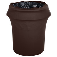 Marko EMB5026WC55515 Embrace 55 Gallon Chocolate Spandex Round Waste Container Cover