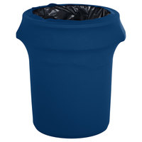 Marko EMB5026WC44062 Embrace 44 Gallon Cadet Blue Spandex Round Waste Container Cover