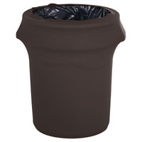 Marko EMB5026WC44633 Embrace 44 Gallon Dark Lava Spandex Round Waste Container Cover