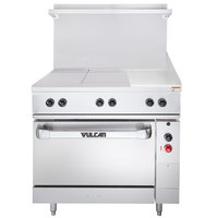 Vulcan EV36S-2HT12G480 Endurance Series 36 inch Electric Range with 2 Hot Tops, 12 inch Griddle, and Standard Oven - 480V