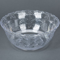 Fineline Platter Pleasers 3508 8 qt. Clear Plastic Punch Bowl