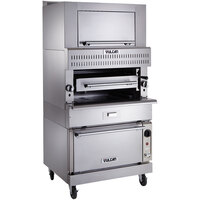 Vulcan VBB1SF-NAT Natural Gas Upright Ceramic Broiler with Standard Oven Base and Finishing Oven - 150,500 BTU