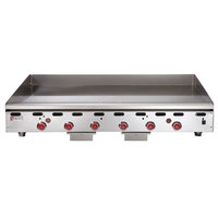 Wolf ASA72-24 -NAT Natural Gas 72 inch Countertop Griddle with Snap-Action Thermostatic Controls - 162,000 BTU