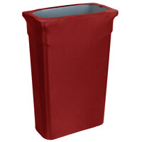 Marko EMB5026TLC23046 Embrace Trimline 23 Gallon Burgundy Spandex Narrow Profile Waste Container Cover