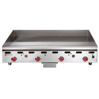 Wolf ASA48-30 -NAT Natural Gas 48 inch Countertop Griddle with Snap-Action Thermostatic Controls and Extra Deep Plate - 108,000 BTU