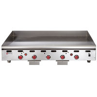 Wolf ASA60-30-LP Liquid Propane 60 inch Countertop Griddle with Snap-Action Thermostatic Controls and Extra Deep Plate - 135,000 BTU