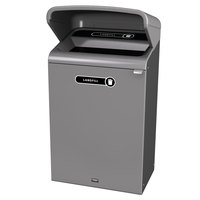 Rubbermaid 1961726 Configure 33 Gallon Stenni Gray 1 Stream Landfill Outdoor Waste Container with Rain Hood