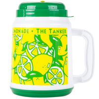 64 oz. The Tanker Lemonade Design Plastic Cold Cup with Straw and Lid - 12/Case