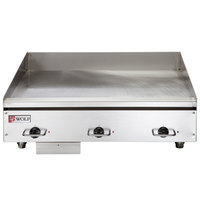 Wolf WEG36E-208/1 36 inch Heavy-Duty Electric Countertop Griddle with Thermostatic Controls - 208V, 1 Phase, 16.2 kW
