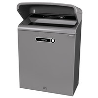 Rubbermaid 1961743 Configure 45 Gallon Stenni Gray 1 Stream Landfill Outdoor Waste Container with Rain Hood