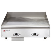 Wolf WEG24E-208/1 24 inch Heavy-Duty Electric Countertop Griddle with Thermostatic Controls - 208V, 1 Phase, 10.8 kW