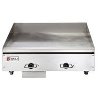 Wolf WEG24E-208/1 24 inch Electric Countertop Griddle with Thermostatic Controls - 208V, 1 Phase, 10.8 kW